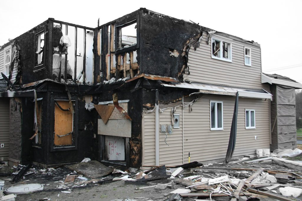 House burned in a fire - State Farm insurance settlement